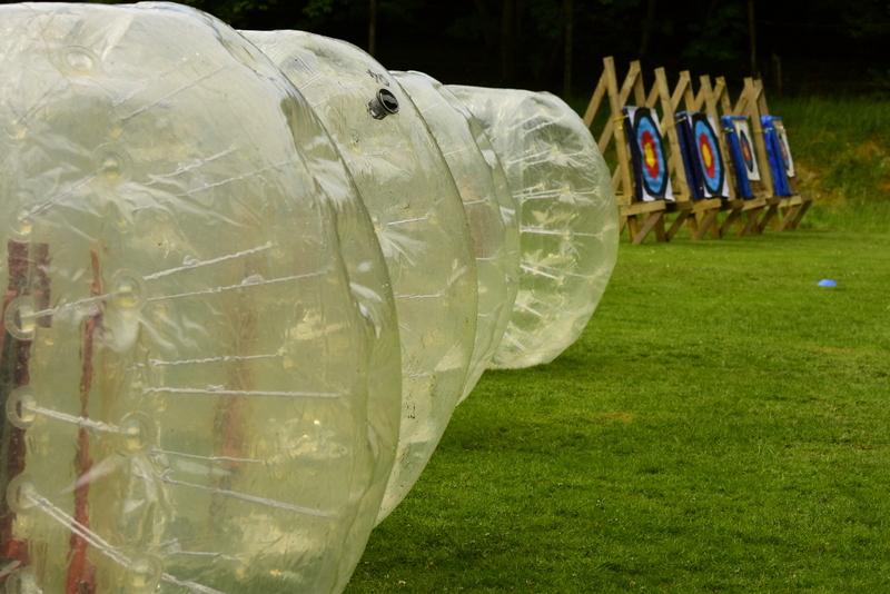 bubble football at Fairburn