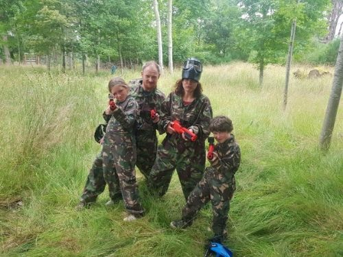 Family fun with mini paintball at Fairburn.