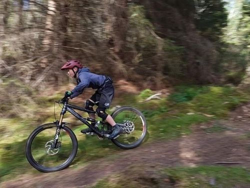 Struan mountain biking with Fairburn activity centre.