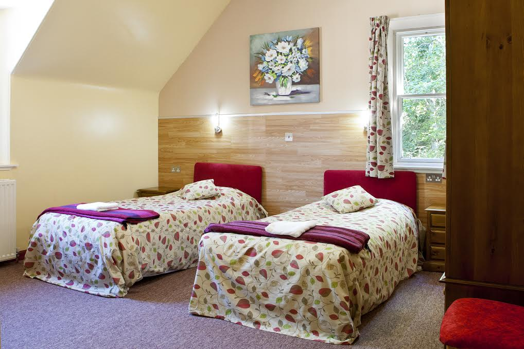 Twin room at Fairburn Activity Centre.